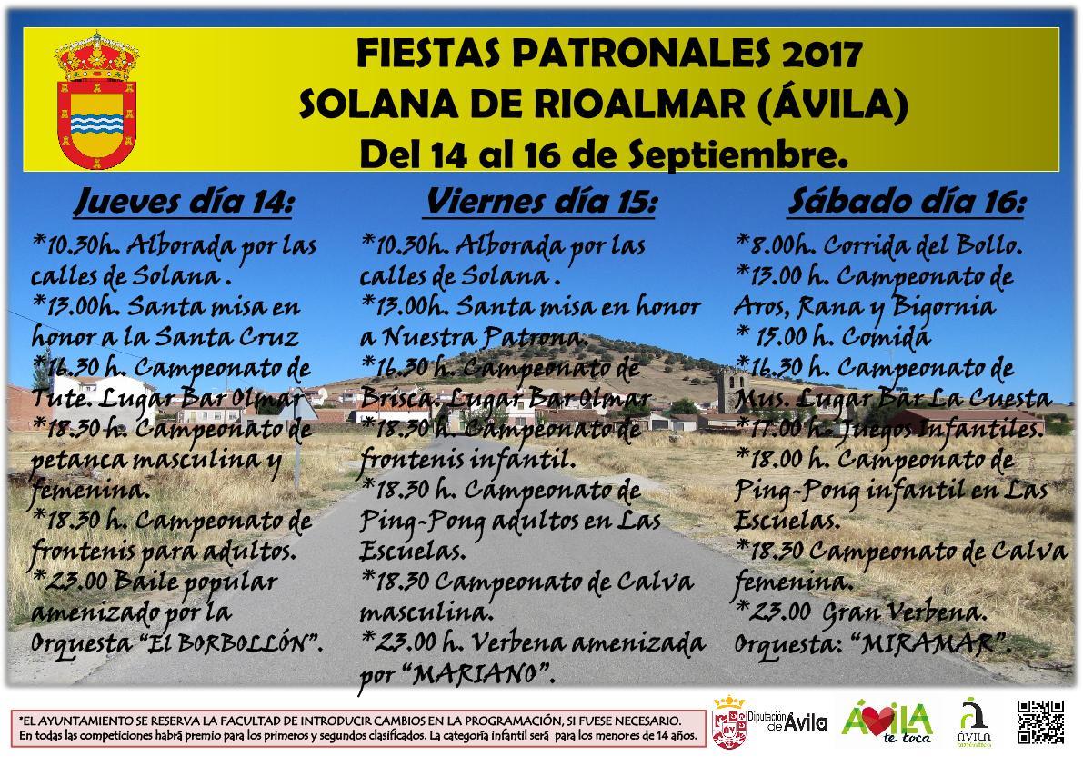 Fiestas  Solana de Rioalmar