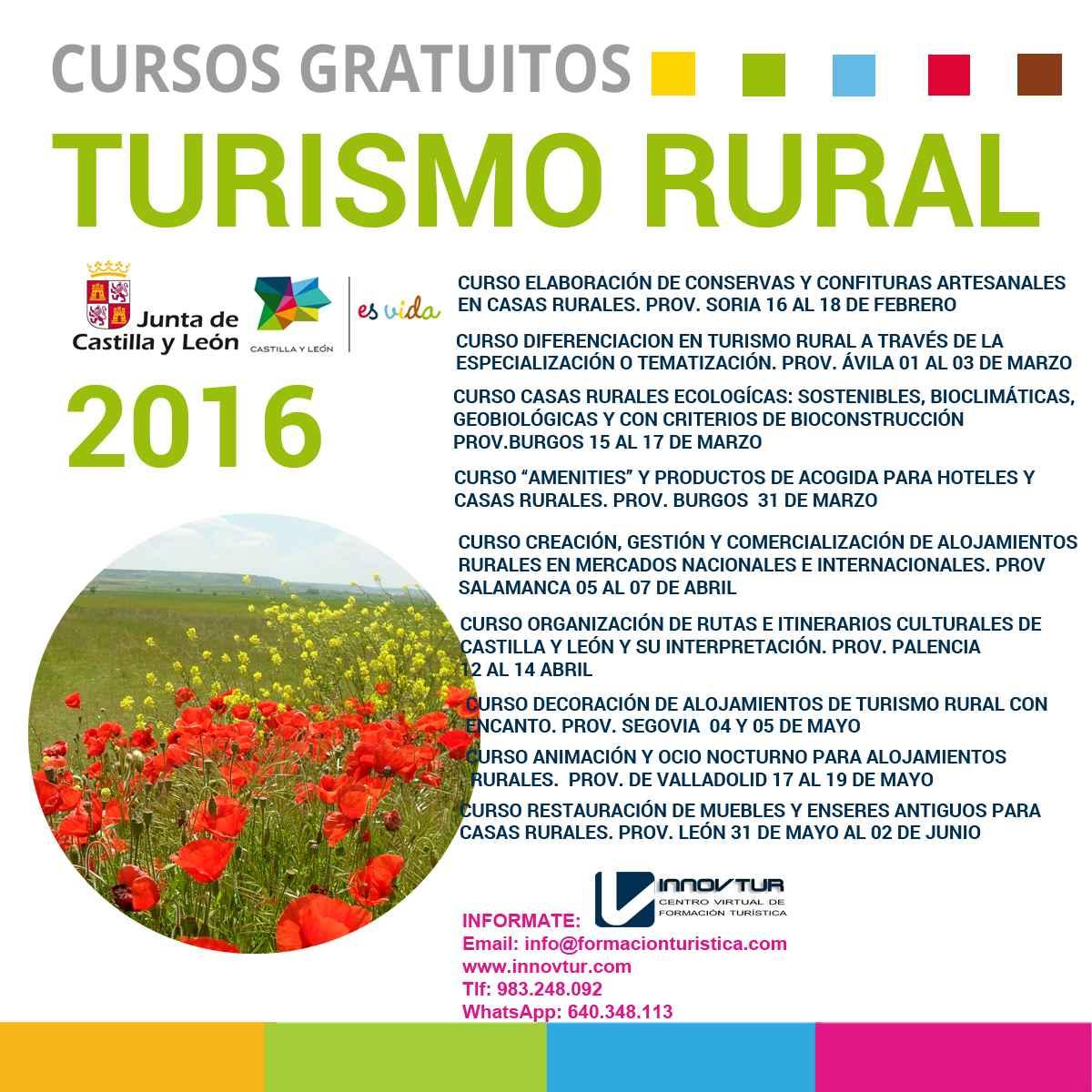 Cursos Turismo Rural 2016