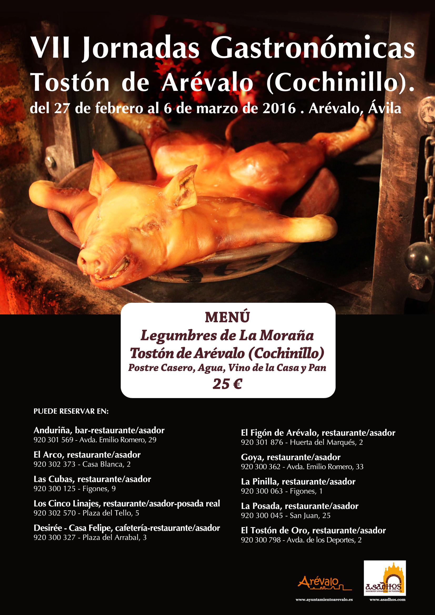 VII Jornadas Gastronómicas del Tostón de Arévalo