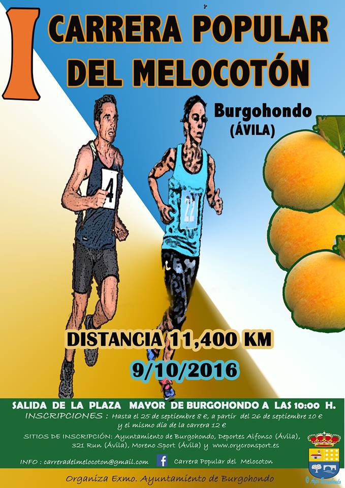 I Carrera Popular del Melocotón en Burgohondo