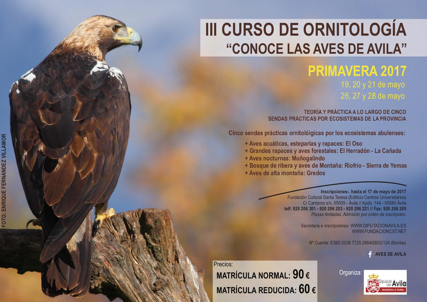 """III Curso de Ornitología """" Conoce las Aves de Ávila """""""