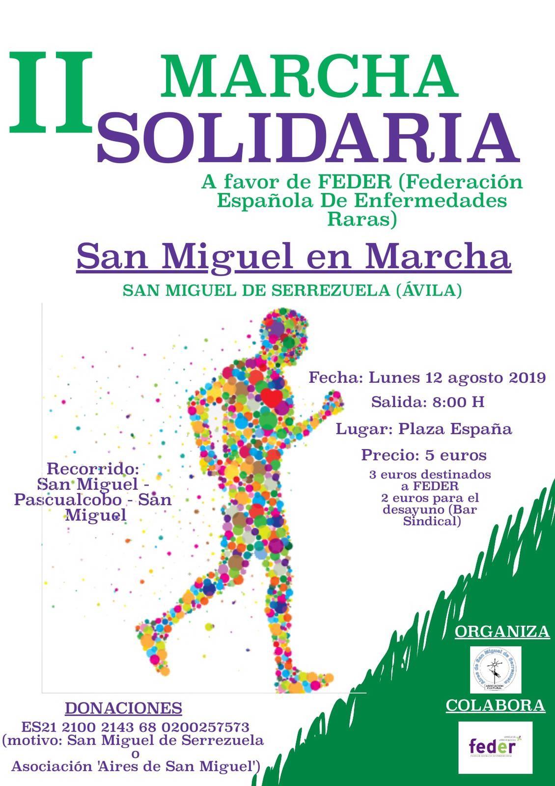 Ii Marcha Solidaria En San Miguel De Serrezuela Agenda De Eventos